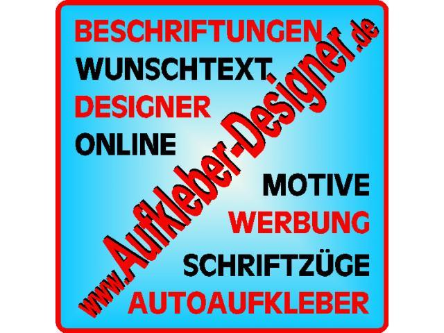 Bei Aufkleber Designerde Autoaufkleber Online Gestalten
