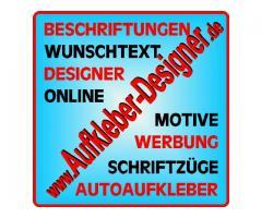 Bei Aufkleber-Designer.de - Autoaufkleber online gestalten und bestellen