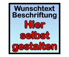 AUTOAUFKLEBER WUNSCHTEXT BESCHRIFTUNG KLEBEBUCHSTABEN ZIFFERN