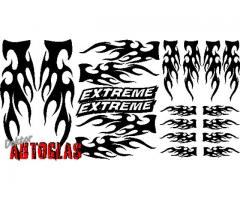 20 tlg. FLAMMEN SET FLAMES TRIBAL AUFKLEBER EXTREME TUNING