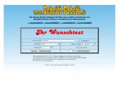 Schaufensterbeschriftung und Ladenbeschriftung online selbst gestalten bei Schrift-Fabrik.de
