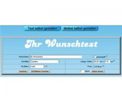 Wetterfeste Wunschtext Aufkleber und Klebebuchstaben online selbst gestalten