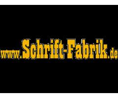 Aufkleber selbst gestalten bei Schrift-Fabrik.de Textaufkleber