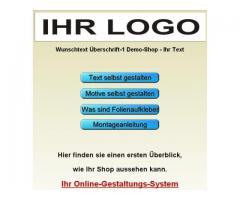 Aufkleber gestalten Script Konfigurator Schriftgestalter Schneideplotter Online-Shop Programm