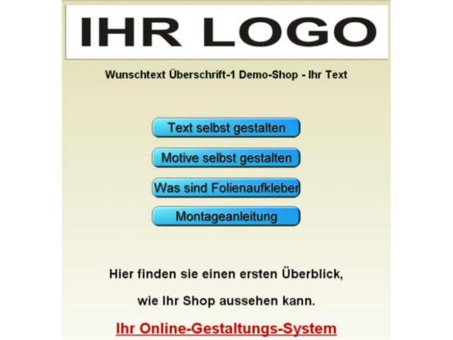 Programm zum Aufkleber gestalten online Designer Konfigurator Schriftgestalter