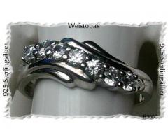 SilberSchmuck, Ring, exklusiv mit Weistopas