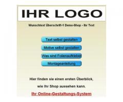Ihr Aufkleber Folienschriften online Konfigurator
